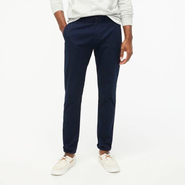 dark blue slim fit khaki pants from j crew