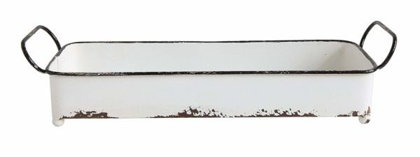 Creative Co-Op DA8543 Decorative Rectangle Distressed Metal Tray