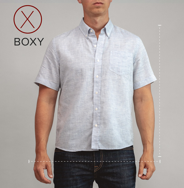 boxy button up shirt