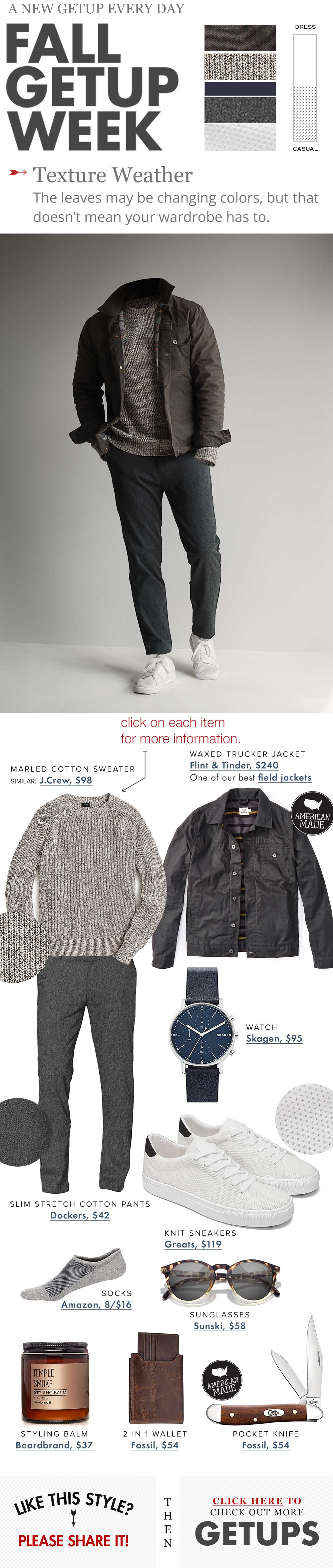 mens fashion fall texture outfit