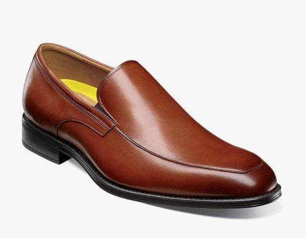florsheim brown leather venetian loafer shoe