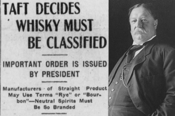 taft decides whiskey must be classified