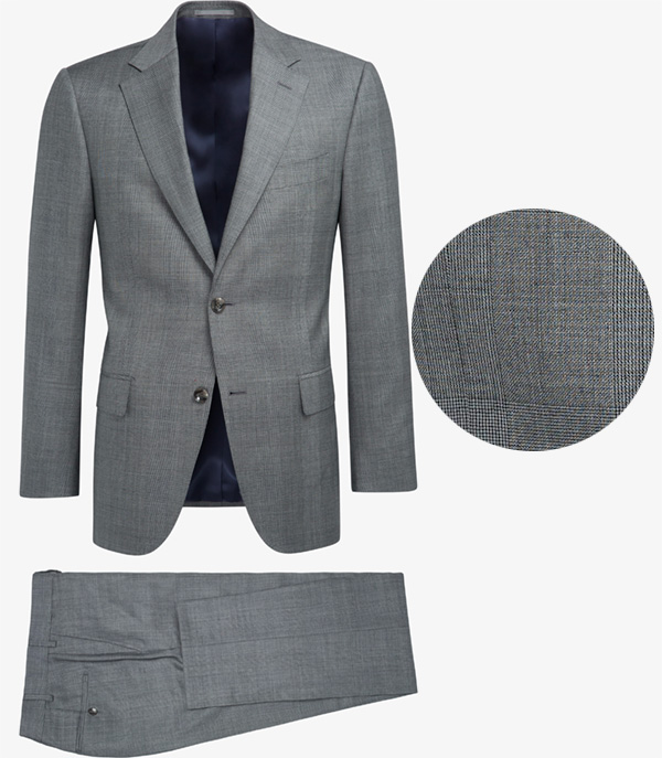 suit supply glen check