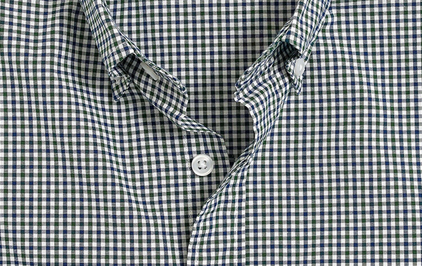 green and blue gingham shirt pattern