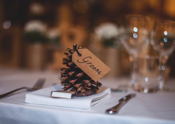 groom place setting at wedding