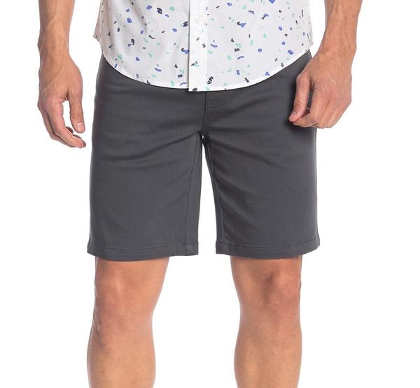 public opinion stretch shorts
