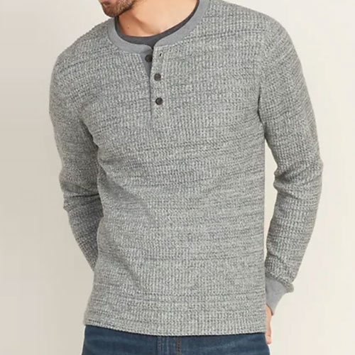 a knit henley from old navy