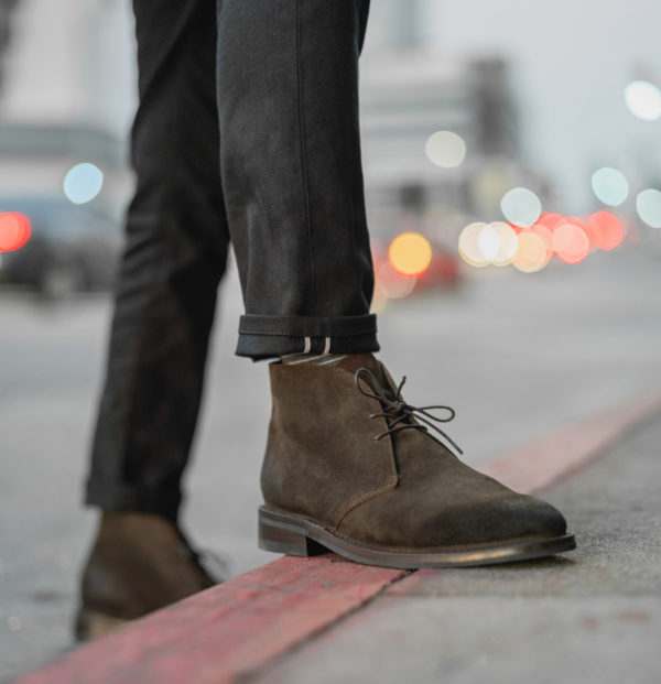 brown suede chukka boot men