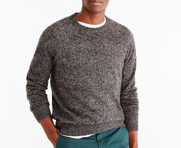 brown lambswool sweater