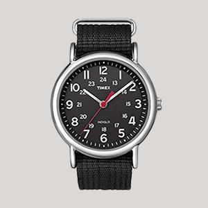 a black timex watch