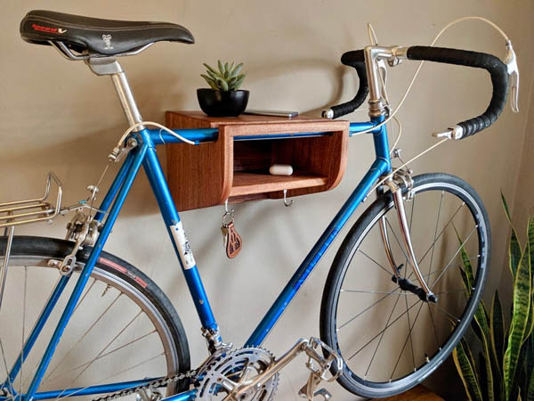 home upgrade under 150 wall mounted bike rack
