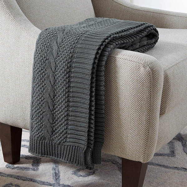 home upgrade under 150 stone and beam cable knit throw blanket
