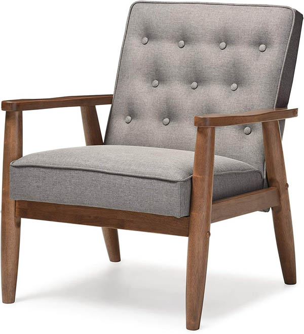 baxton studio upholstered wooden chair home upgrade under 150