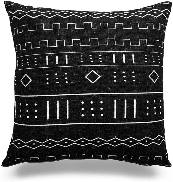 home upgrade under 150 hofdeco african mudcloth pillow