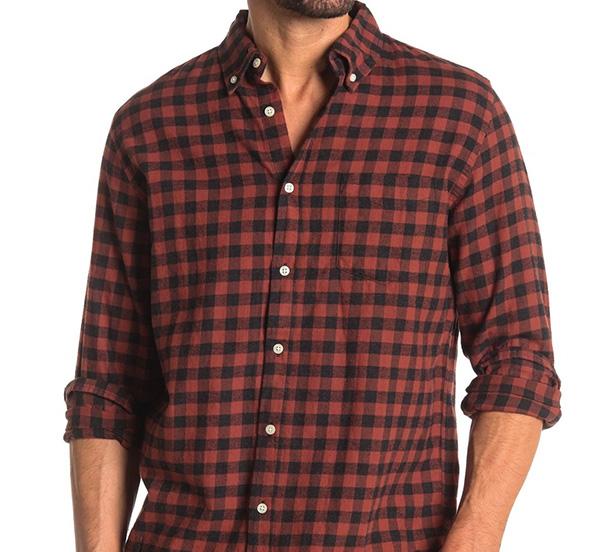 brown gingham shirt