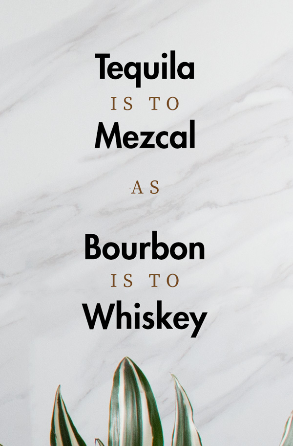 are mezcal and tequila different