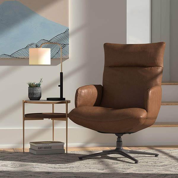 rivet leather chair amazon decor