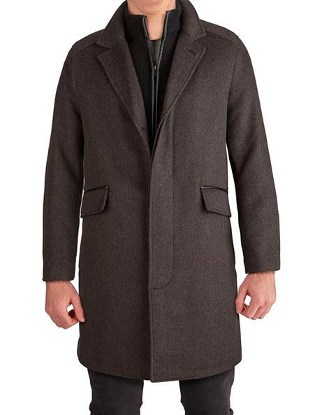 cole haan brown walker coat