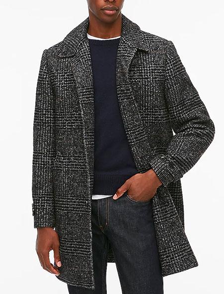 jcrew factory overcoat in gray