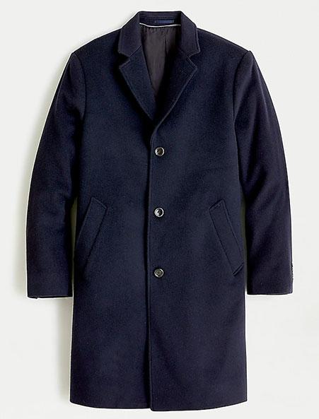 jcrew overcoat in navy