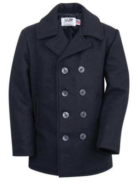 schott american made wool peac coat