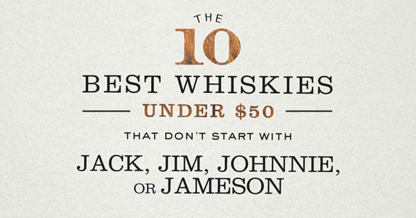 The 10 Best Whiskies Under $50 That Don't Start With Jack, Jim, Johnnie, or Jameson