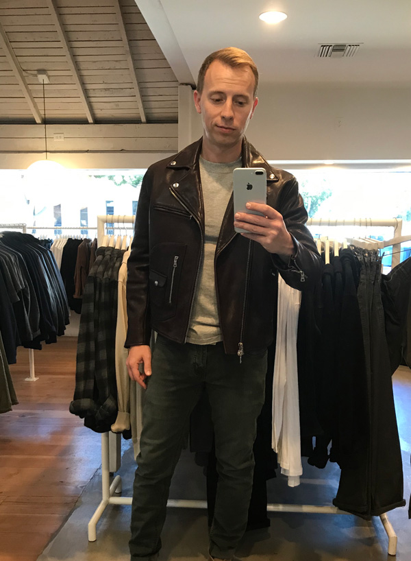 buck mason leather jacket