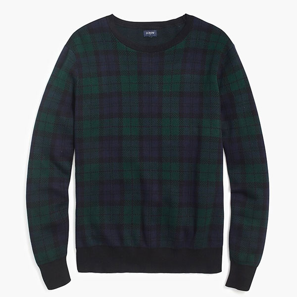 jcrew blackwatch sweater