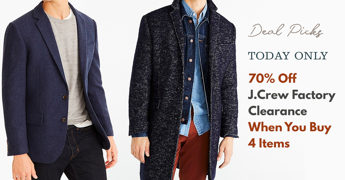 Today Only: 70% Off J.Crew Factory Clearance When You Buy 4 Items