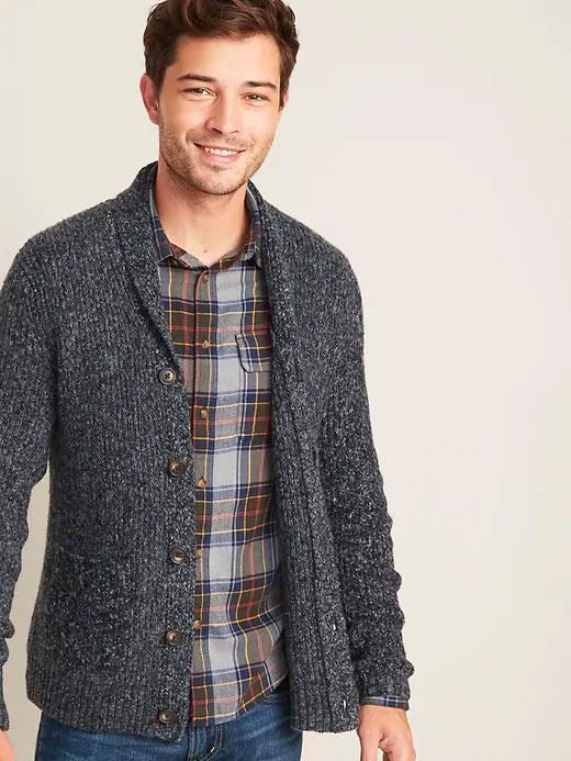 old navy shawl collar cardigan