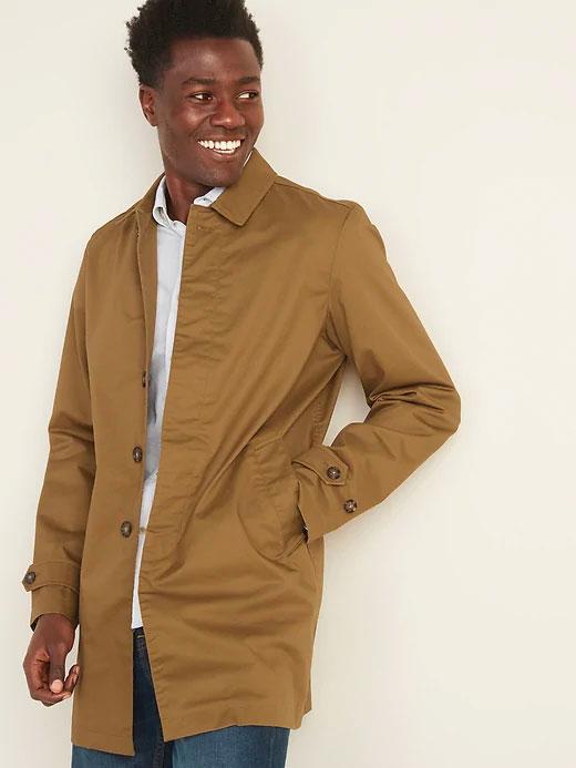 old navy twill mac jacket