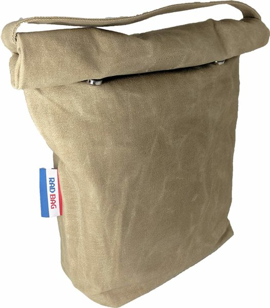 waxed canvas grown up lunch bag