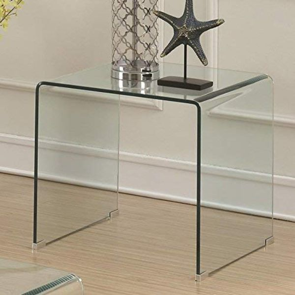 clear end table intentiional apartment