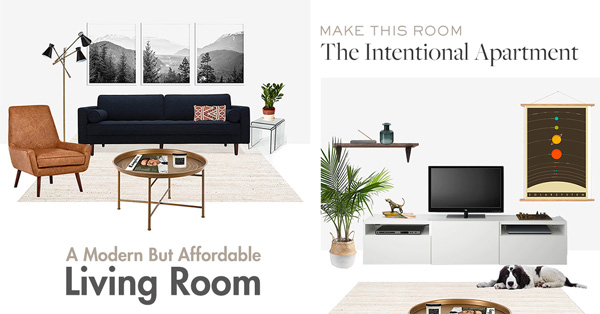 The Intentional Apartment: A Modern But Affordable Living Room