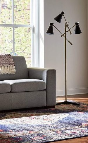 rivet 3 arm floor lamp intentional apartment