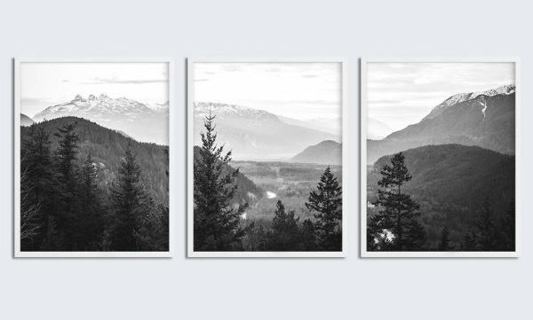 white mountain print set intentional apartment