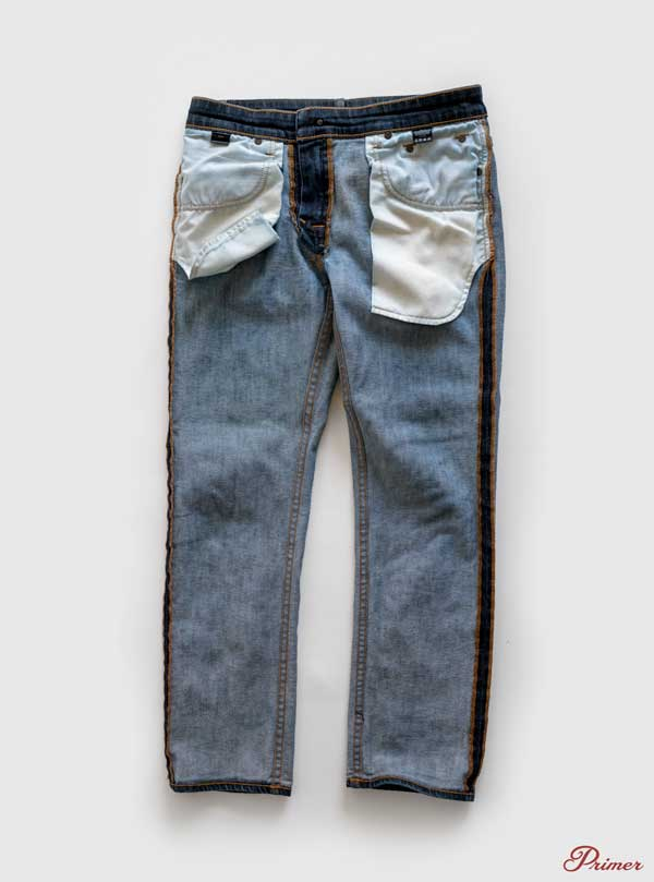 turn jeans inside out before washing