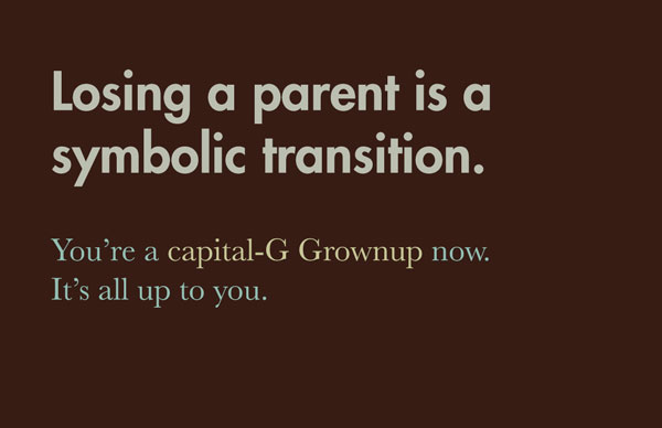 symbolic transition parent death