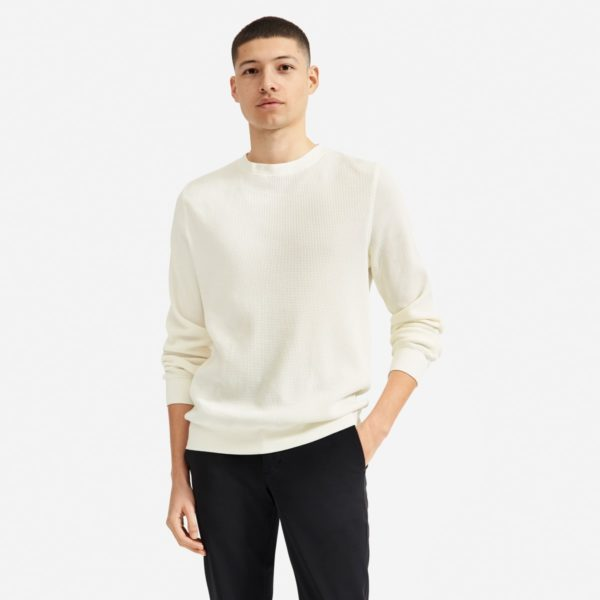 everlane waffle crew spring casual capsule