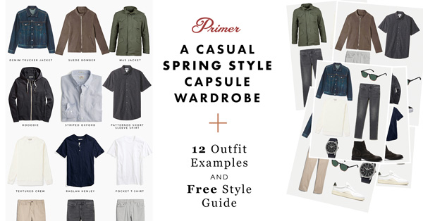 A Casual Spring Style Capsule Wardrobe + 12 Outfit Examples AND Free Style Guide