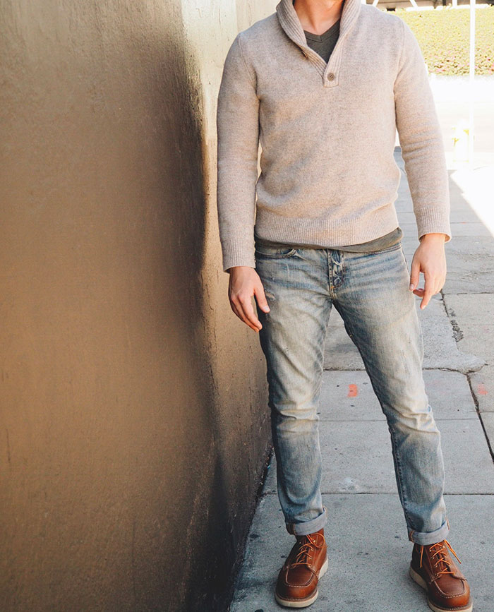 pull over sweater jeans