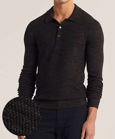 long sleeve sweater polo abercrombie