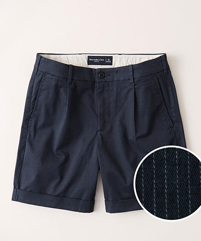 cuffed hem pleated shorts abercrombie