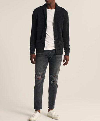 shawl collar cardigan abercrombie