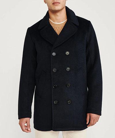 wool peacoat abercrombie