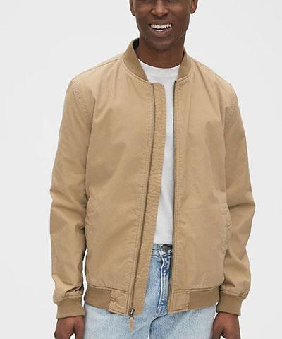 canvas bomber jacket gap