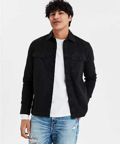 canvas workshirt american eagle