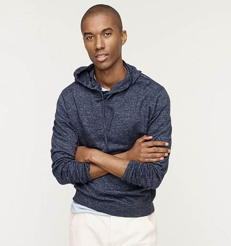 jcrew lighweight hooded sweater comfortable clothes