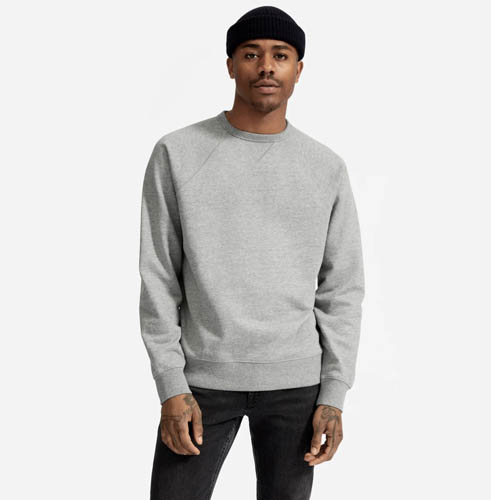everlane french terry crew comfortable clothes