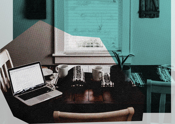 set up a home work space while working from home